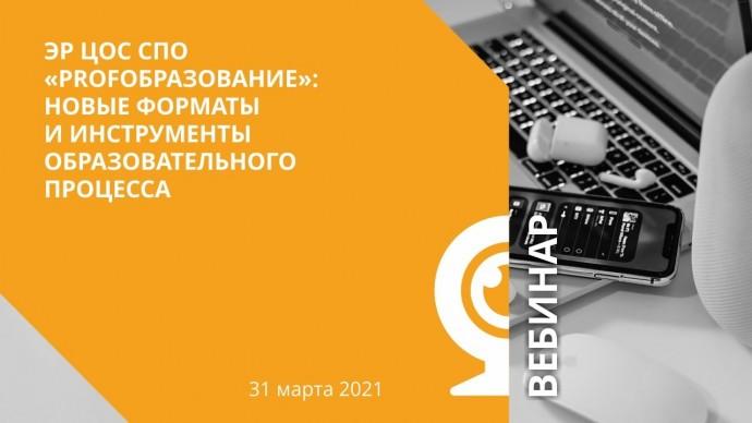 IPR MEDIA: ЭР ЦОС СПО «PROFобразование»: новые форматы и инструменты образовательного процесса - вид