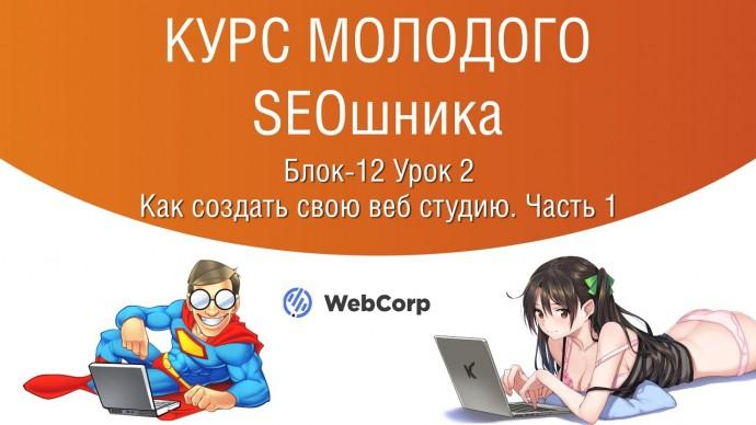 Копирайтер: Блок-12 Урок 1. Как создать свою веб студию. - видео