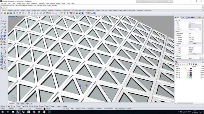 Графика: Команда FlowAlongSurface и работа с блоками в Rhinoceros 3D - видео