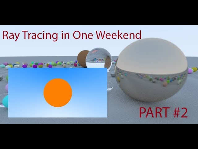 Графика: [RU] Ray Tracing in One Weekend PART #2 - видео