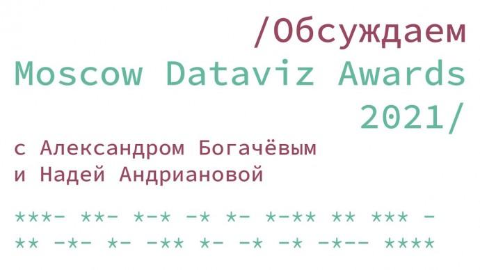 Графика: Moscow Dataviz Awards 2021: обсуждаем с экспертами - видео
