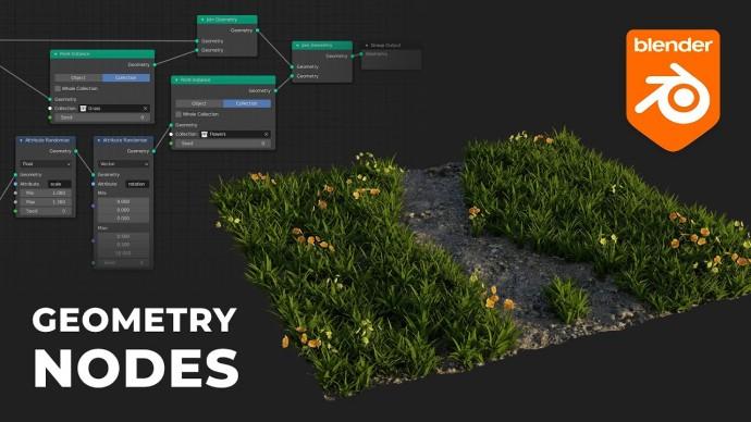 Графика: Геометрические ноды в Blender - видео