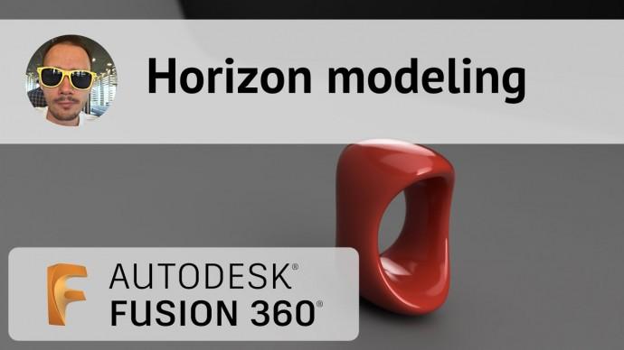Графика: Horizon Modeling во Fusion 360 #322 - видео