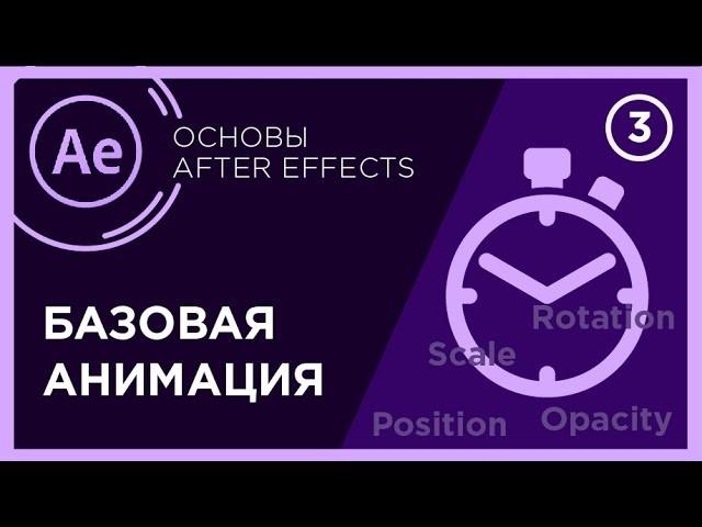 Графика: Анимация текста After Effects | Базовая анимация after effects | Свойства трансформации - в