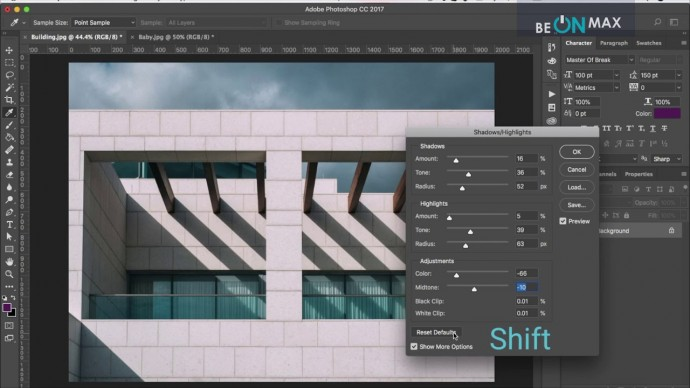 Графика: 49.Использование корректировок. Часть 1. Shadows/Highlights. HDR Toning - видео