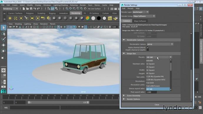 Графика: 11 01 Обзор рендеринга в Maya (rendering) - видео