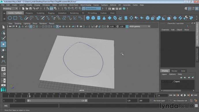 Графика: 10 03 Создание кривых на поверхности - видео