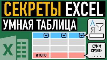 Графика: Умная таблица в Excel ➤ Секреты эффективной работы - видео